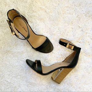 Call It Spring Open Toe Black Sandel Heels Size 5